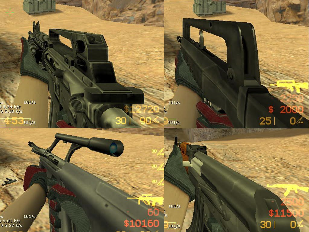 Smoothed Pack Weapons