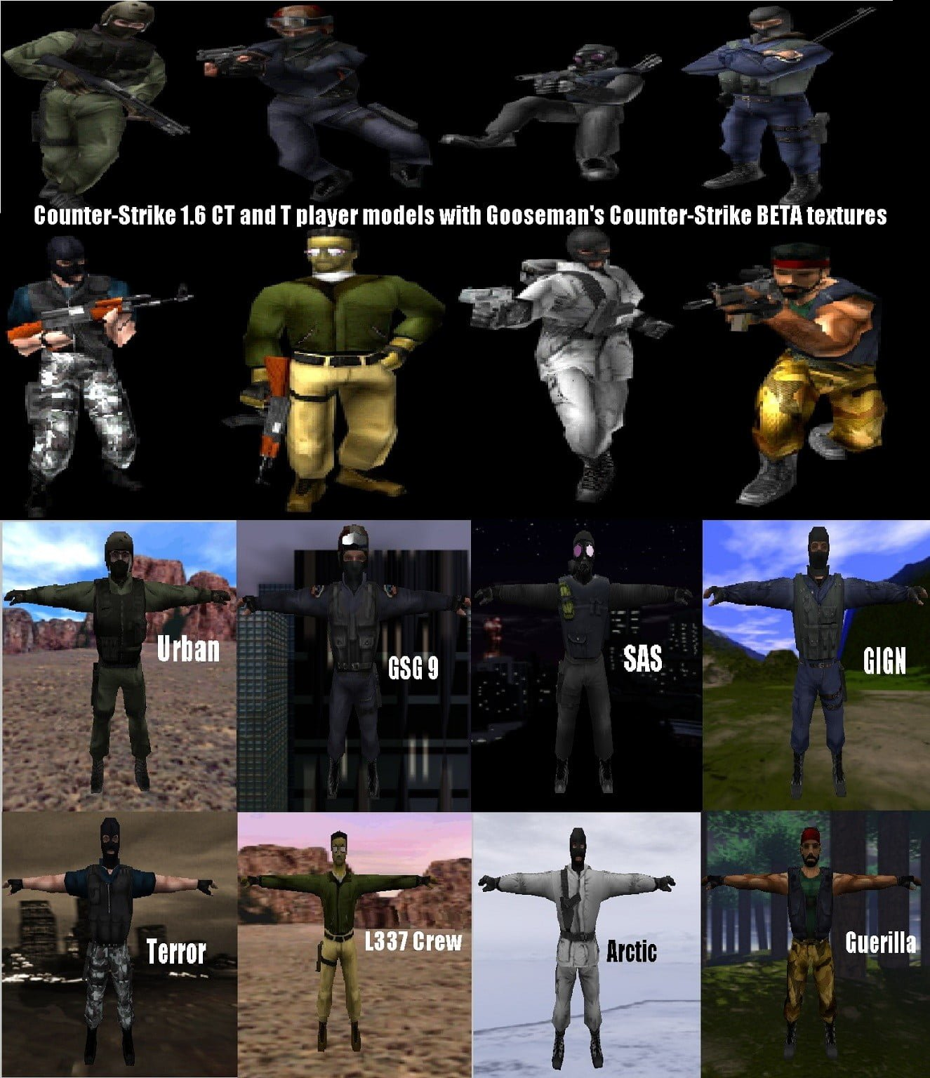 Counter Strike 1.6 – Models